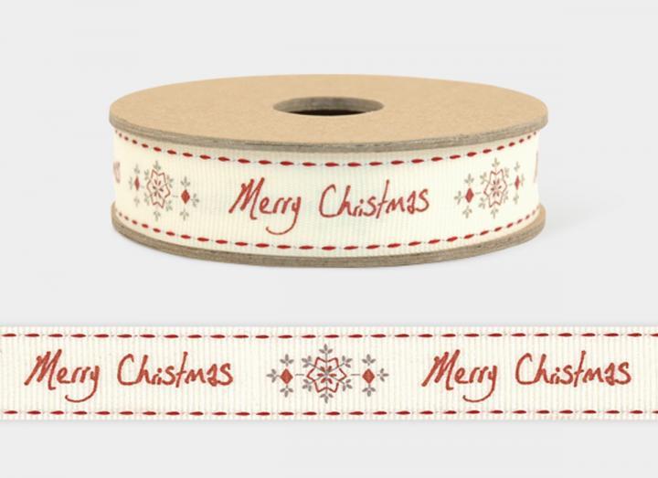 Merry Christmas snowflake ribbon