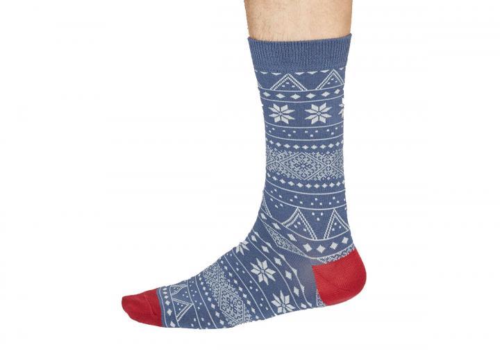 Olwin Fairisle Bamboo Organic Cotton Socks