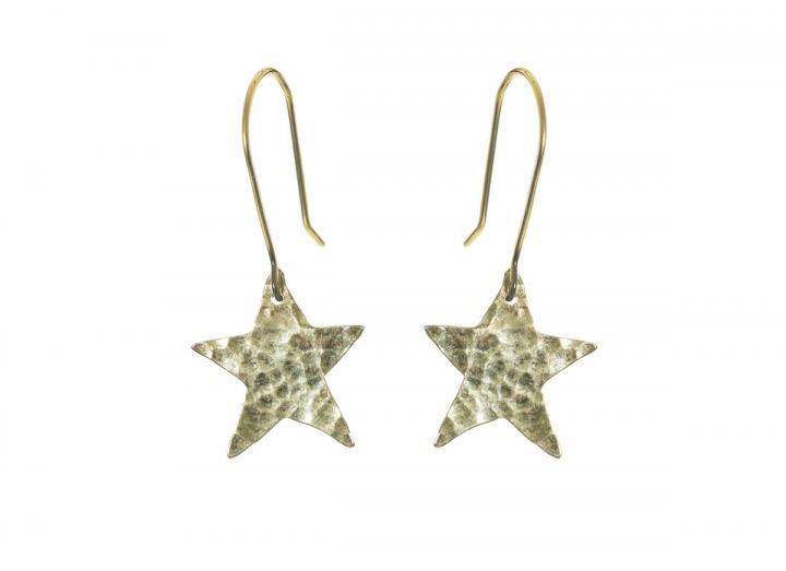 Plated star earrings