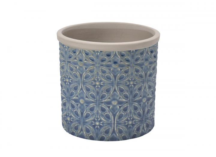 Porto blue plant pot