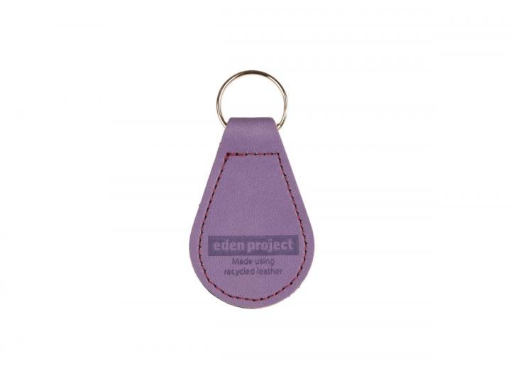 Recycled leather keyring