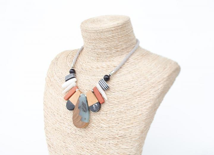Resin and wooden necklace