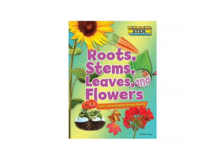 Roots stems leaves ad flowers