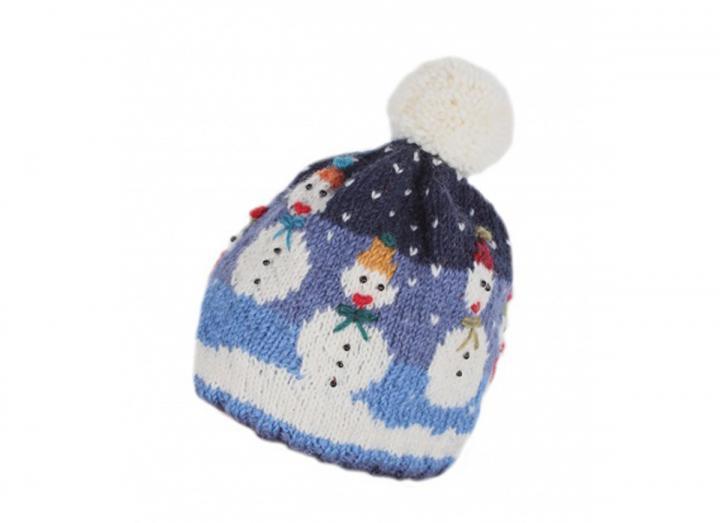 Snowman bobble beanie