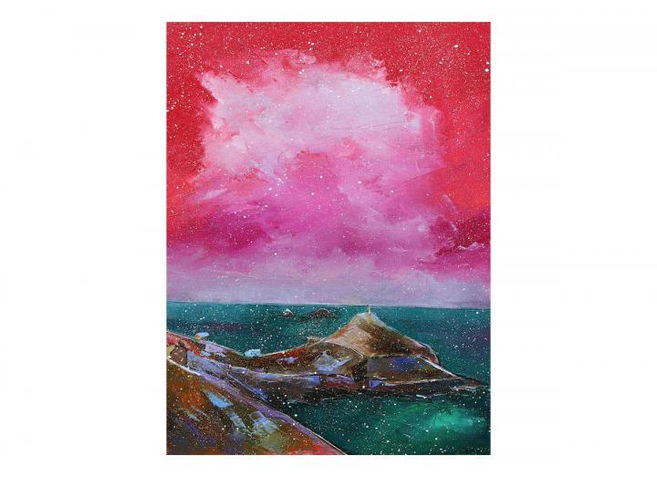 Snowy Cape Cornwall card
