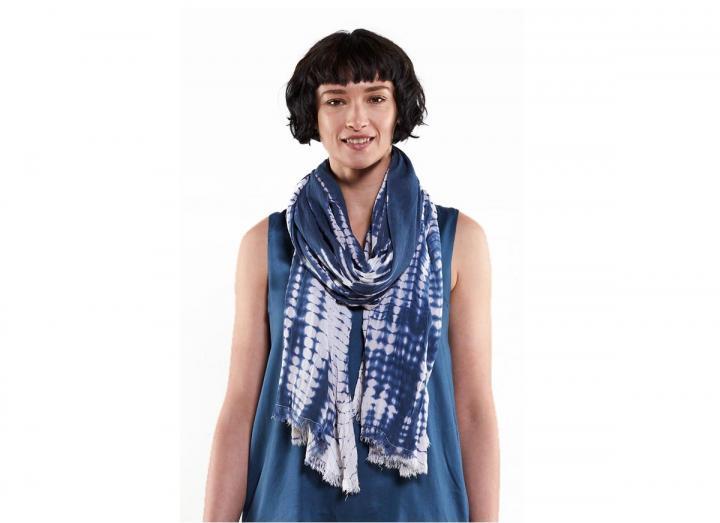 Tie dye scarf denim
