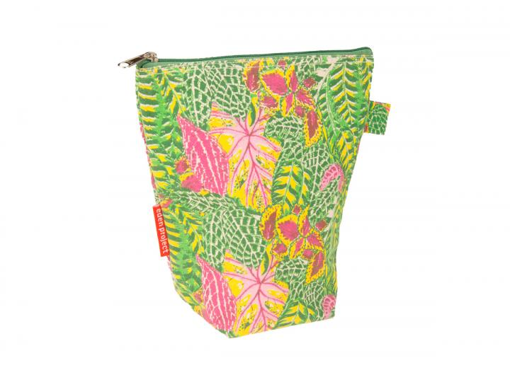 Wash bag tropical leaves
