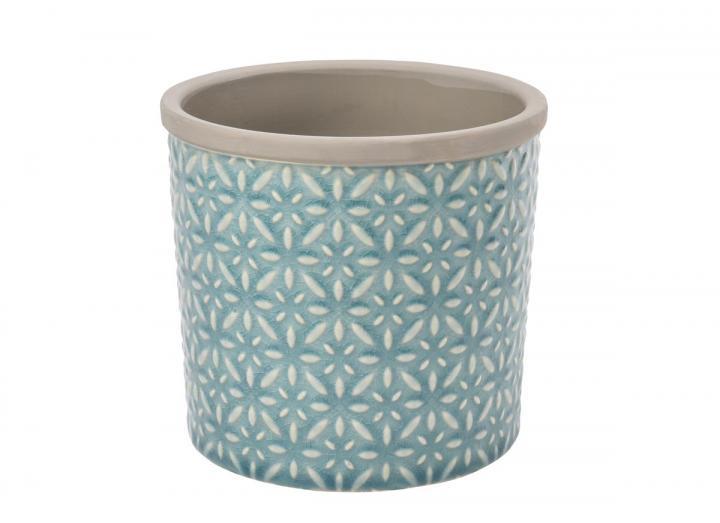 Tuscany blue plant pot