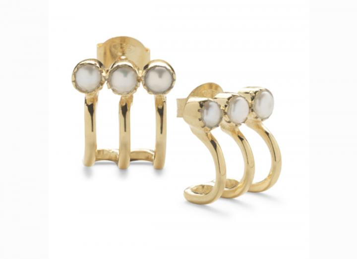 Vimla pearl earrings white