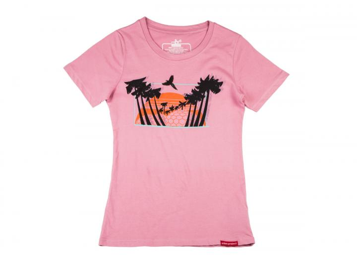 Women's Eden sunset t-shirt dusky pink