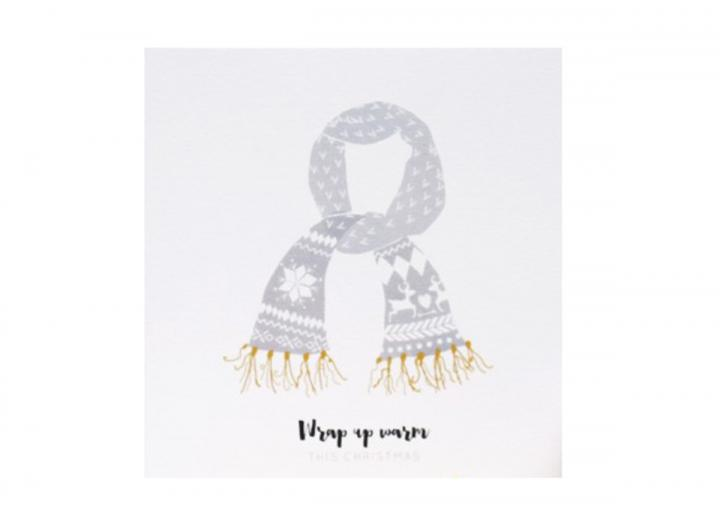 Wrap up warm Christmas card